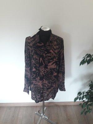 Culture Long Sleeve Blouse black-brown