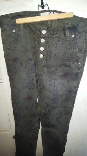 Culture Denmark Hose Jeans oliv Blumen Gr.40