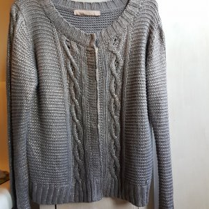 Culture Denmark Zopf Strickjacke grau metallic GrL (XL)