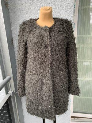 Culture Cappotto in eco pelliccia grigio-marrone-grigio