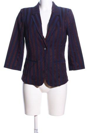 Culture Short Blazer blue-brown striped pattern casual look