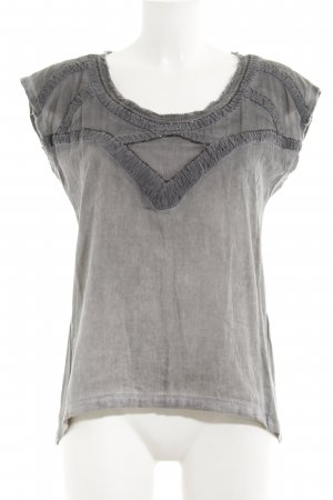 Culture Short Sleeved Blouse grey extravagant style