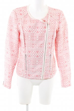 Culture Kurzjacke weiß-pink grafisches Muster Casual-Look