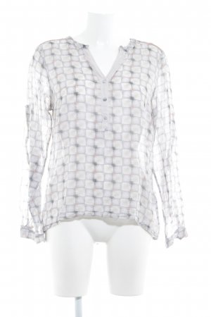 Culture Long Sleeve Blouse oatmeal-grey check pattern simple style