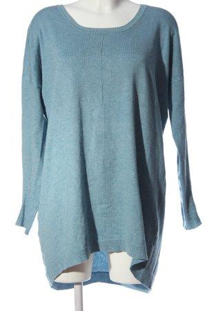 Culture Camicia lunga blu stile casual