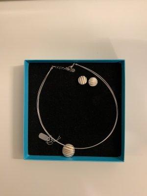 Culture Mix Kette Grau/Bronze mit passenden Ohrringen NEU