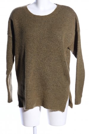 Culture Crewneck Sweater khaki-bronze-colored flecked casual look