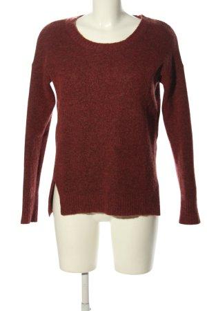 Culture Maglione girocollo rosso puntinato stile casual