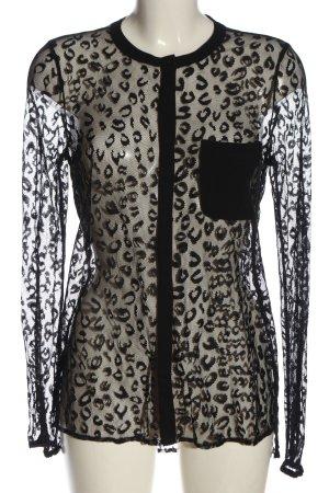 Culture Blusa in merletto nero stampa integrale stile stravagante