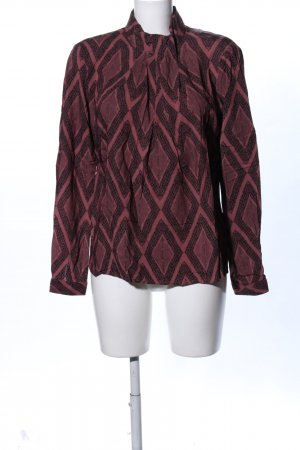 Culture Stand-Up Collar Blouse red allover print business style
