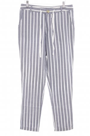 Culture Jersey Pants white-light grey striped pattern casual look