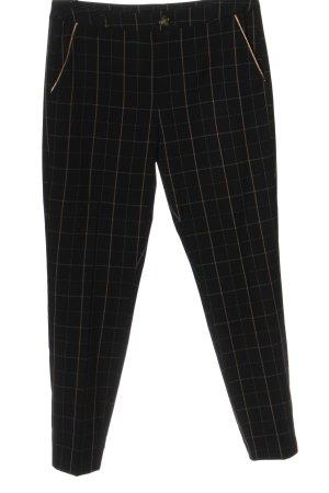 Culture Pantalone jersey nero-crema stampa integrale stile casual
