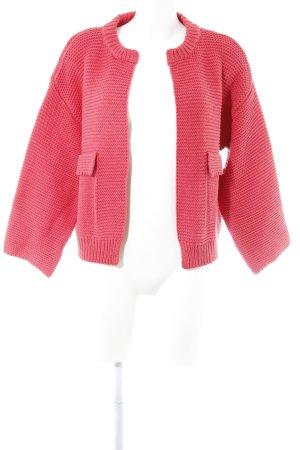 Culture Cardigan in maglia rosa stile classico