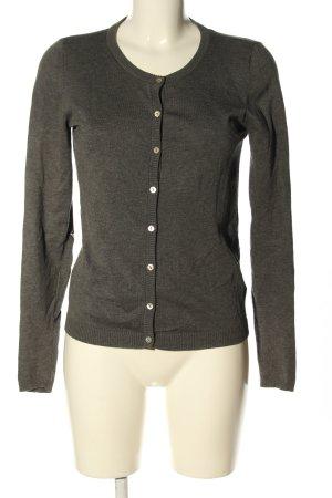 Culture Giacca in maglia grigio chiaro puntinato stile casual