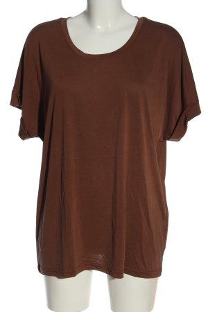 Culture T-shirt marrone stile casual