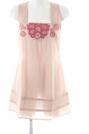 Culture Pinafore dress nude-red flower pattern casual look