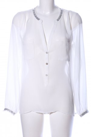 Culture Transparenz-Bluse weiß Casual-Look