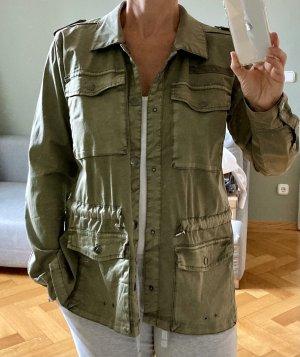 Culture Between-Seasons Jacket khaki cotton