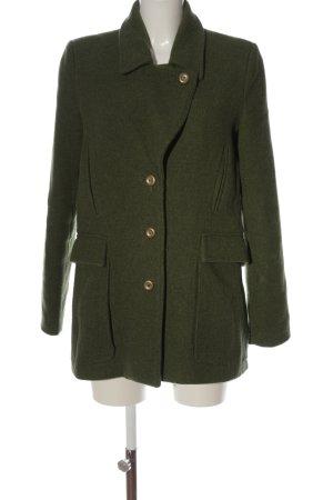 Culture Cappotto invernale cachi puntinato stile casual