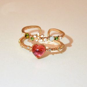 Partner Ring multicolored metal