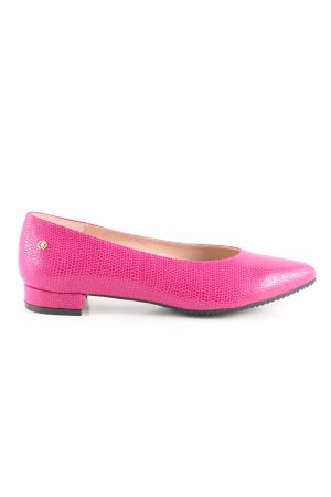 Cuplé Ballerinas mit Spitze pink Animalmuster Glanz-Optik