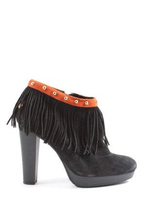 Cuplé Booties black-light orange casual look