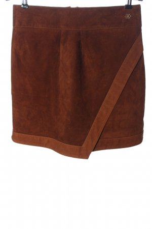 Cuplé Leather Skirt brown casual look
