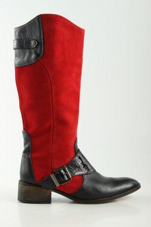 Cuplé Schaftstiefel rot-schwarz Casual-Look