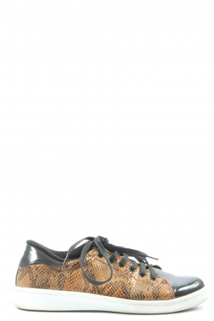 Cuplé Lace-Up Sneaker black-brown animal pattern casual look