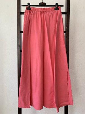 Falda larga magenta-rosa