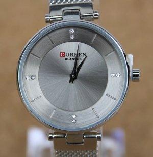 curren Reloj con pulsera metálica color plata