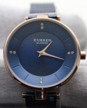 curren Reloj con pulsera metálica azul