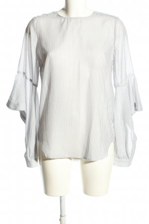 Current Air Slip-over Blouse white-light grey allover print business style