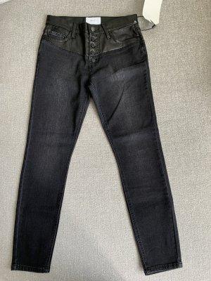 Current/elliott Hoge taille jeans zwart