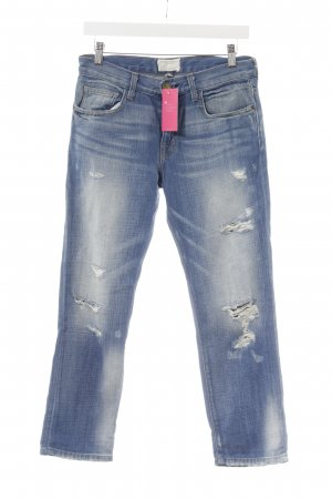 Current/elliott 7/8 Jeans blau-weiß Used-Optik