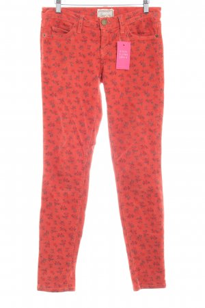Current/elliott Corduroy Trousers flower pattern Metal buttons