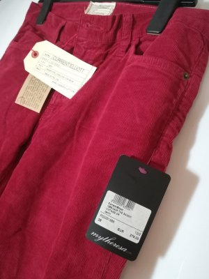 CURRENT/ELLIOTT Feincord Look | Vintage Crimson skinny 80er | NEU mit Etikett | W 29 , 38