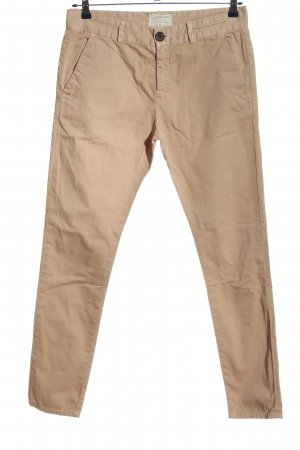 Current/elliott Spodnie z wysokim stanem kremowy W stylu casual