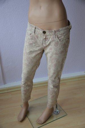 Current/Elliott Hose Jeans hellbeige/rosa Paisleymuster Gr. 29-0
