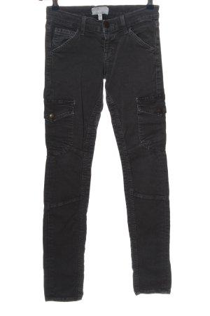 Current/elliott pantalón de cintura baja negro look casual