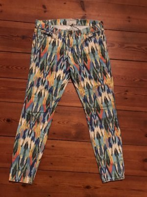 "Current Elliott: Jeans Multi arrow"", NP 250 Euro, blau gelb rot weiß, Ikat-Look, Gr 27 s 36"