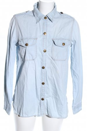 Current/elliott Camisa vaquera azul look casual