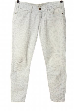 Current/elliott Drainpipe Trousers white-light grey allover print casual look
