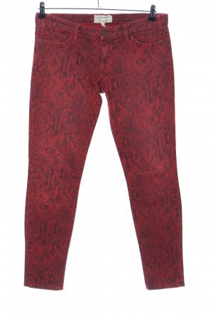 Current/elliott Drainpipe Trousers red-black animal pattern casual look