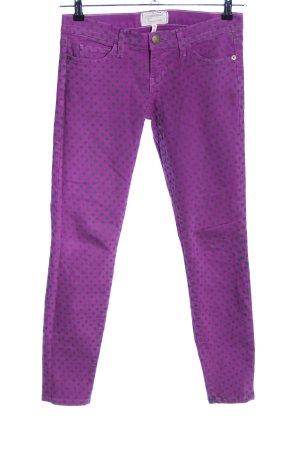 Current/elliott Drainpipe Trousers lilac-black allover print casual look