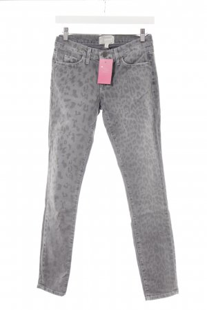 Current/elliott Röhrenjeans grau-dunkelgrau Leomuster Animal-Look