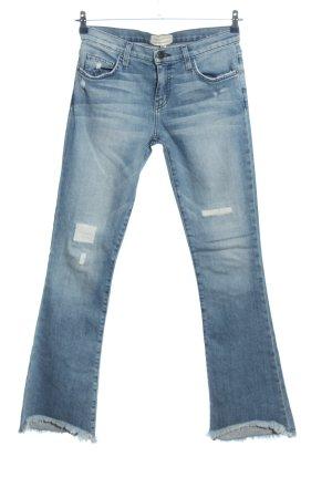 Current/elliott Pantalone a zampa d'elefante blu stile casual