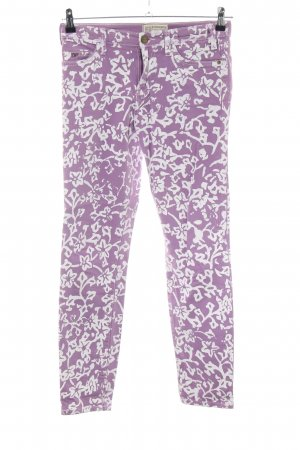 Current/elliott Skinny Jeans lilac-white flower pattern casual look