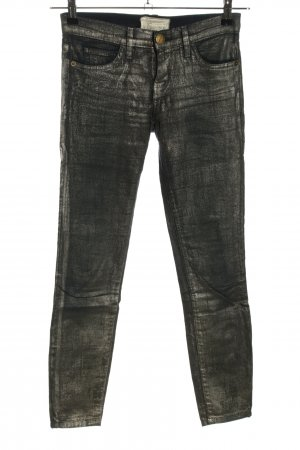 Current/elliott Skinny Jeans schwarz-wollweiß Casual-Look