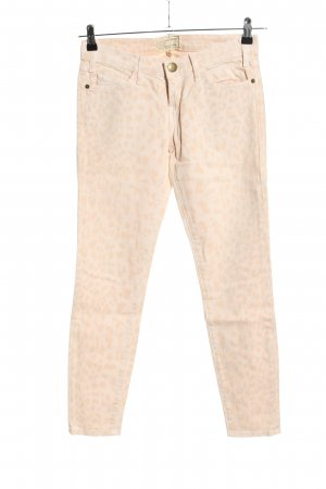 Current/elliott Skinny Jeans creme Allover-Druck Casual-Look